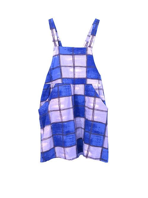 Caroline Dress Blue Dice