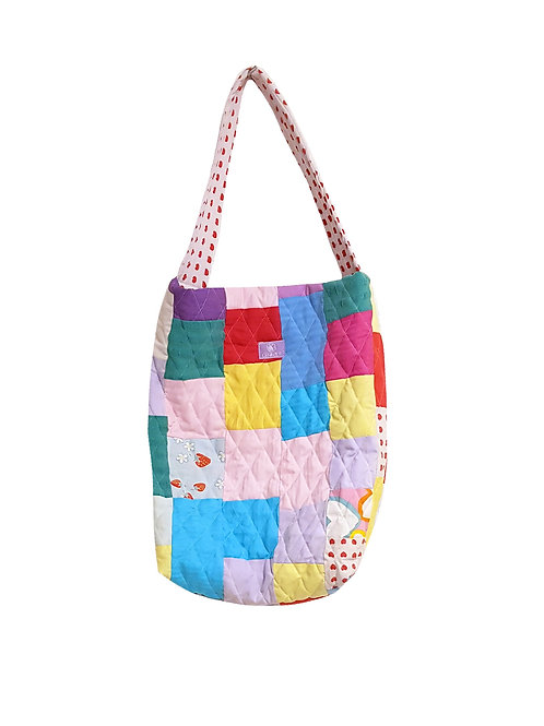 Quilted Bucket Bag Colors And Hearts