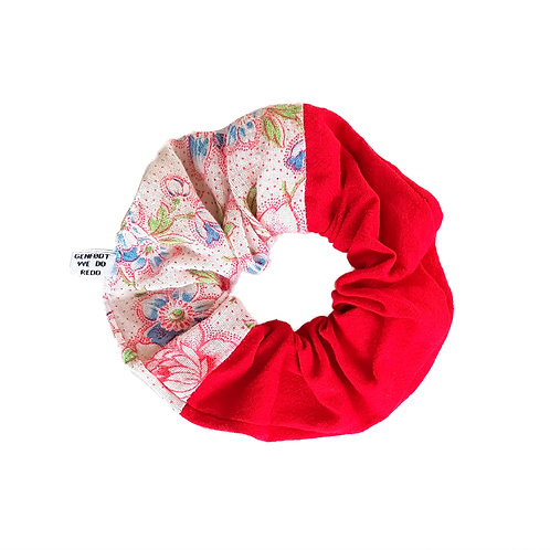 Sally Scrunchie Flowers&Red