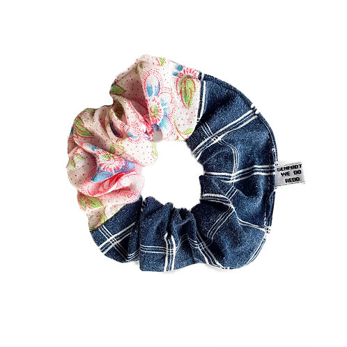 Sally Scrunchie Flowers&Squares