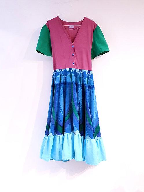 Frida Dress Peacock Dream