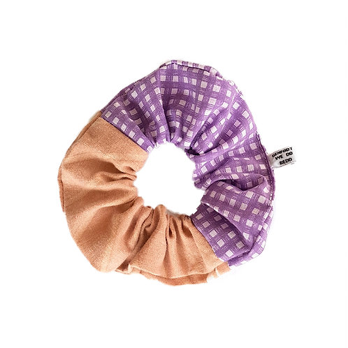 Sally Scrunchie Brown&Purple