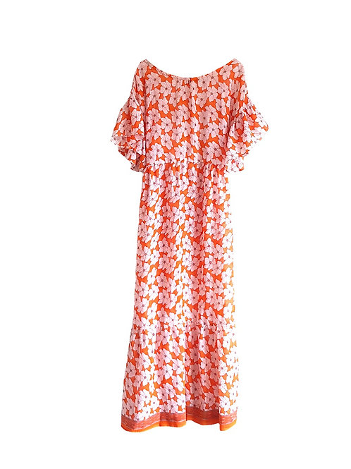 Tabby Dress Orange