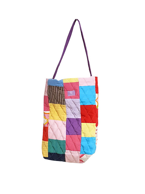 Quilted Bucket Bag Hearts & Colors