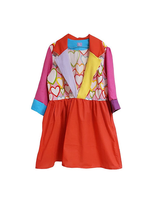 Astrid Dress Colorful Hearts