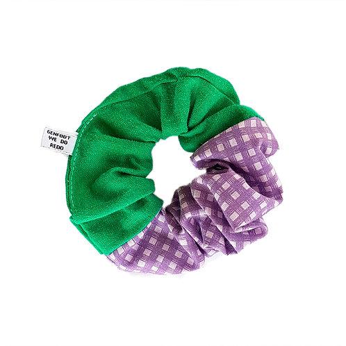 Sally Scrunchie Green&Purple