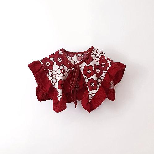 Klara Collar Red Flowers