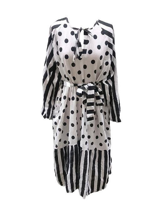 Luna Dress Black&White