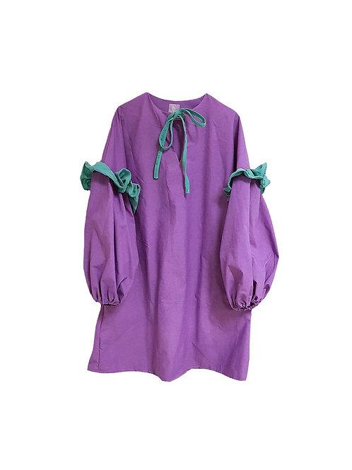 Amalie Dress Purple and Green