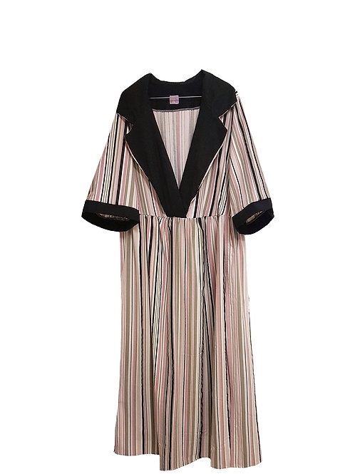 Astrid Dress Long Stripes