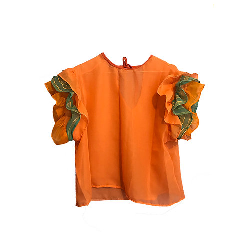 Floff Top Orange & Turquoise