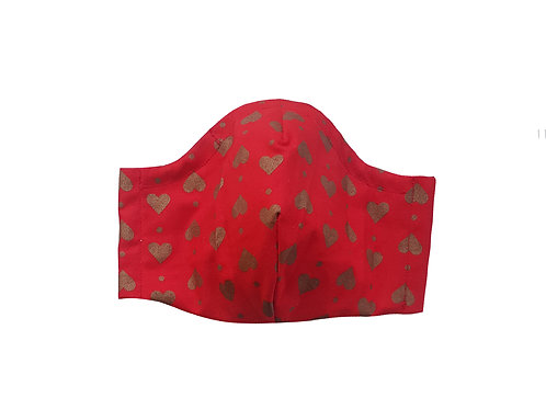 Face Cover Gold Hearts