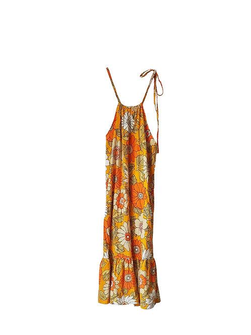 Janis Dress Orange Retro