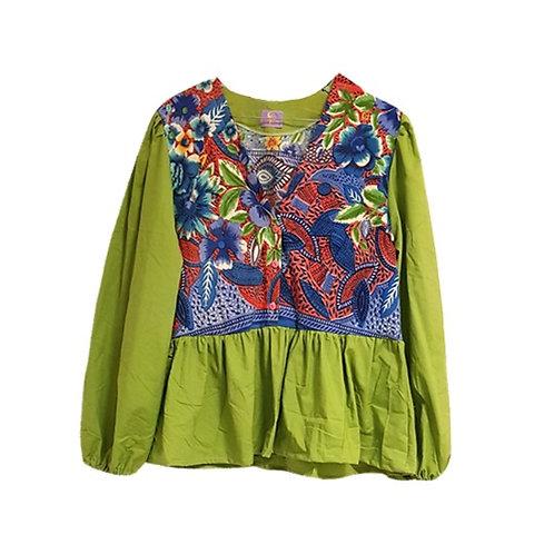 Murano Shirt Organic w/ Green Sleeves