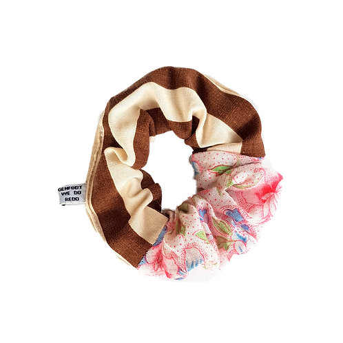 Sally Scrunchie Stripes&Flowers