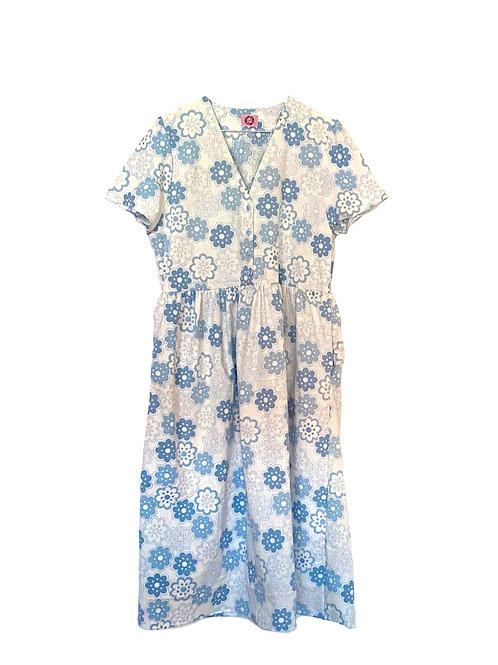 Camilla Dress Blue Flowers