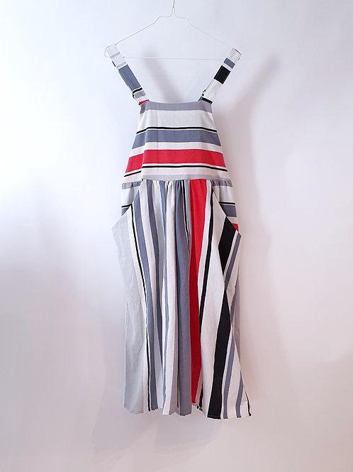 Caroline Overalls 90's Stripes