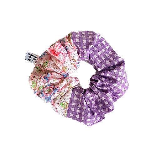Sally Scrunchie Flowers&Purple
