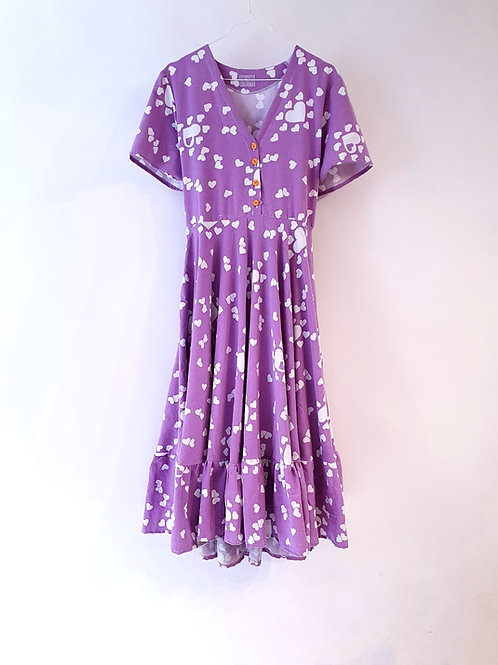 Frida Dress Purple Love