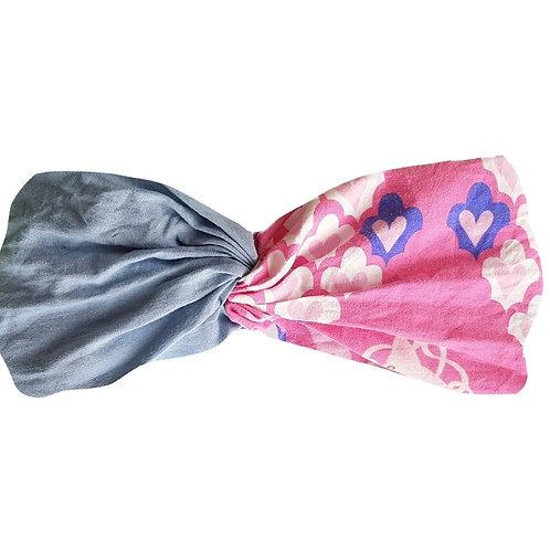 Sally Headband Blue&Hearts