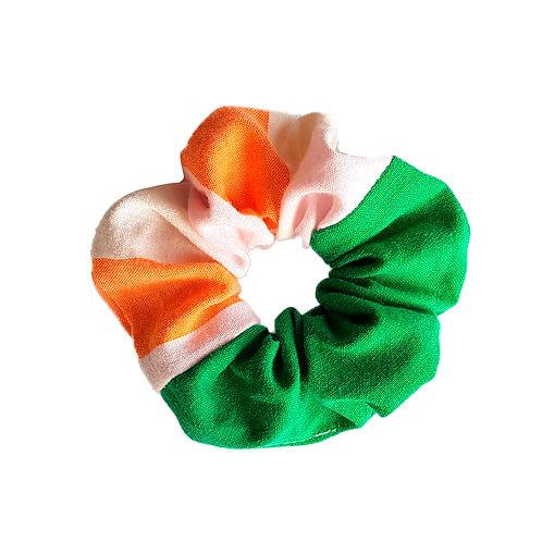 Sally Scrunchie Orange,White&Green