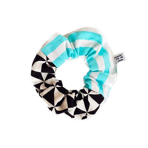 Sally Scrunchie Checkers&Stripes