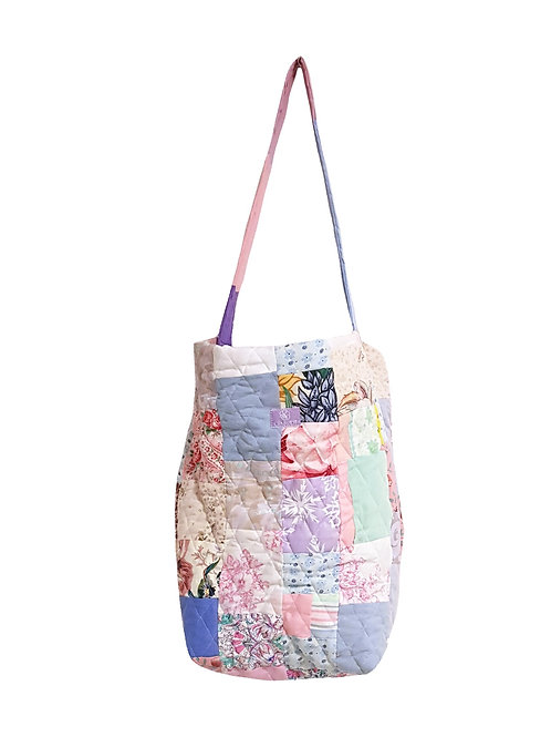 Quilted Bucket Bag Flowers & Pastels