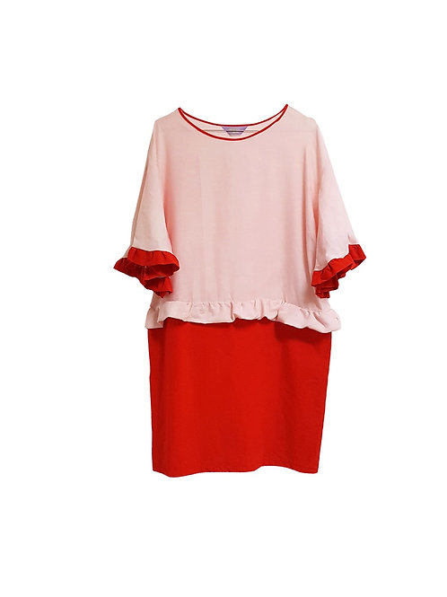 Frida Dress Pink & Red