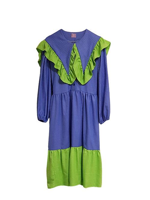 Klara Dress Blue & Green