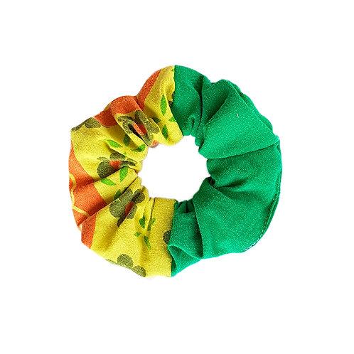 Sally Scrunchie Flowers&Green