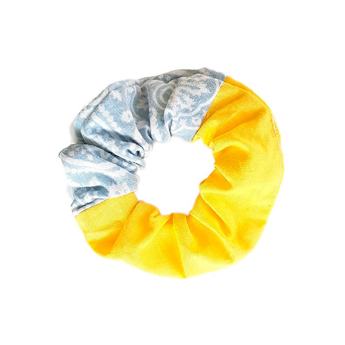 Sally Scrunchie Blue&Yellow