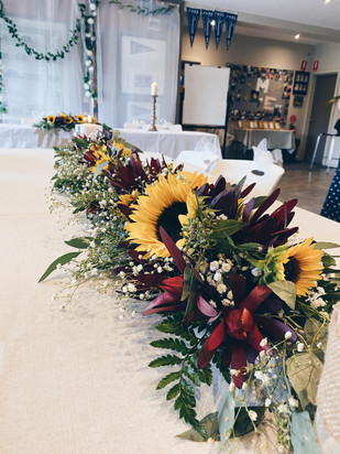 sunflower table centres.jpg