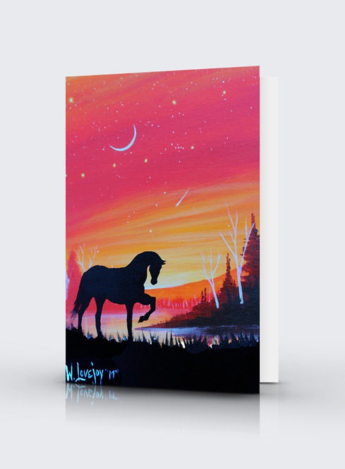 Sunset Shunka Wakan Greeting Card