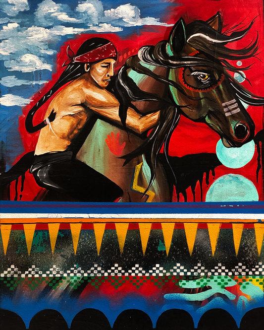Tashunke Nagi (Spirit of His Horse) 16x20 Poster Print