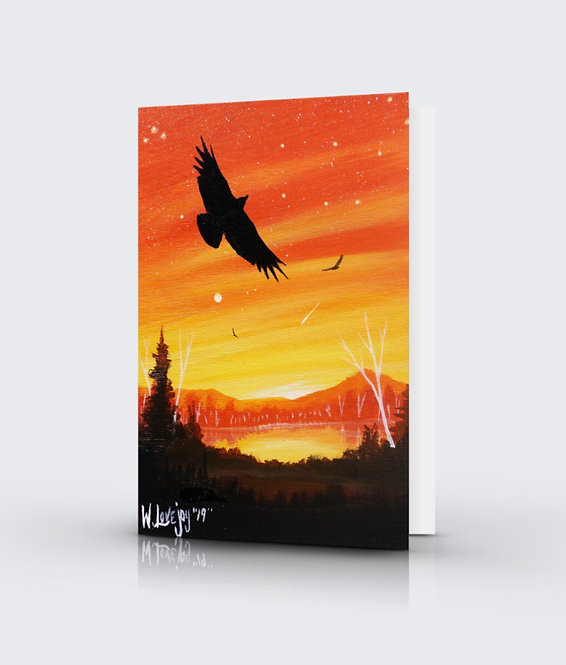 Flying Free Greeting Card