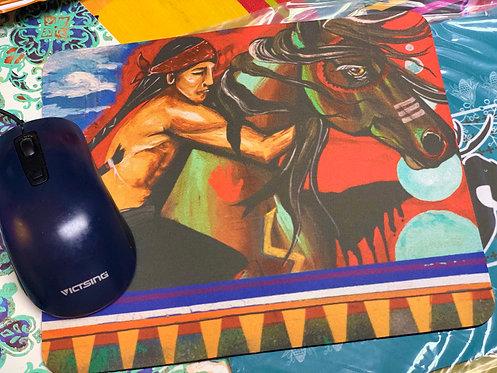 """Tashunke Nagi - Spirit of His Horse"" Mousepad"