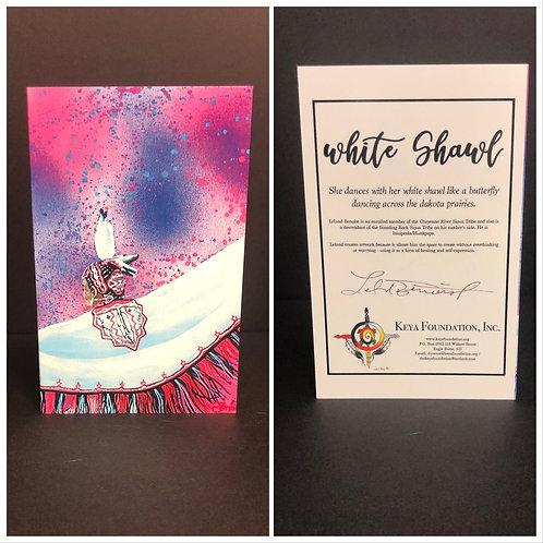 White Shawl Greeting Card