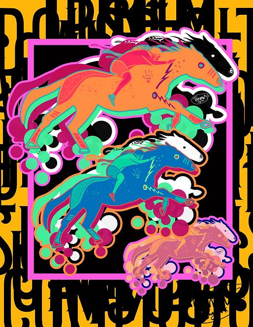 Suŋglúzahaŋ (Fast Horse) 16x20 Poster Print