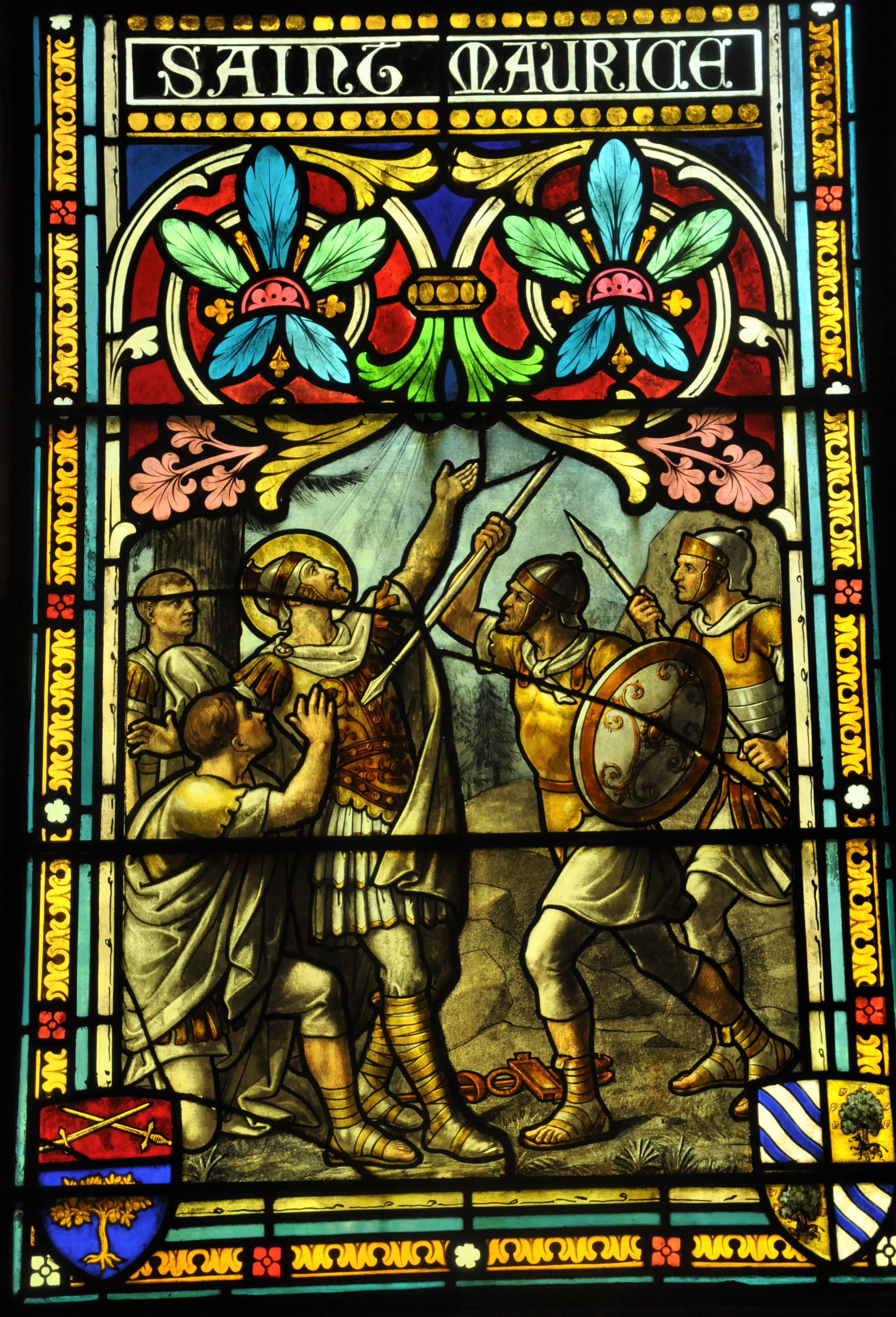 Soubassement vitrail Saint-Maurice