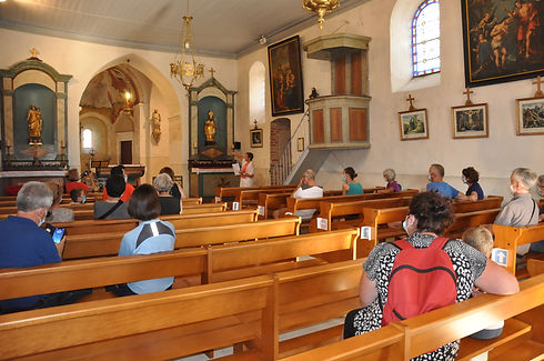 visite de l'église de Chanoz-Chatenay.JP
