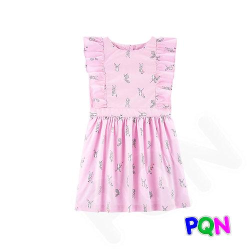 Vestido Carter's - Coelhinha Rosa