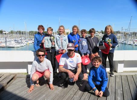 Les coureurs en Optimist ont porté haut les couleurs du club ce week-end à La Rochelle