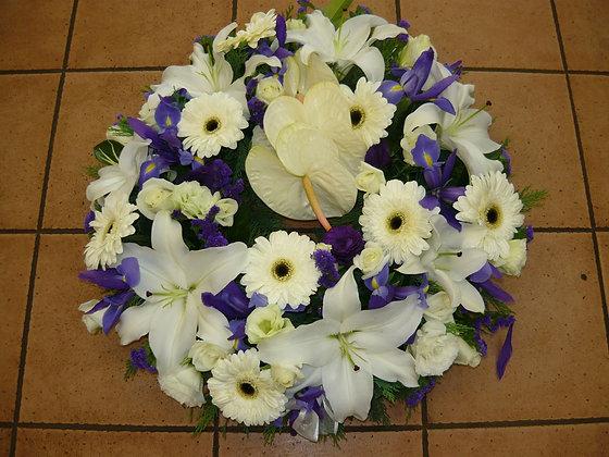 Warringah Florist Manly Vale - Purple and white bouquet