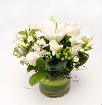 White Mixed Floral Arrangement