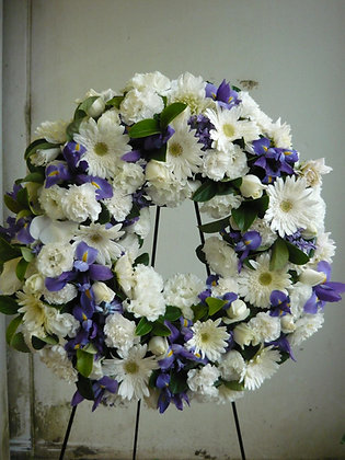 Purple and white contrast wreath