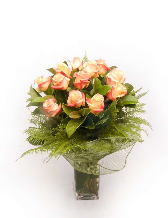 Warringah Florist peach roses