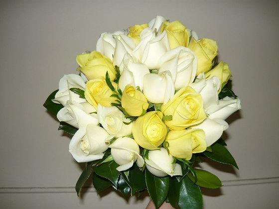 Lemon and White Wedding Bouquet