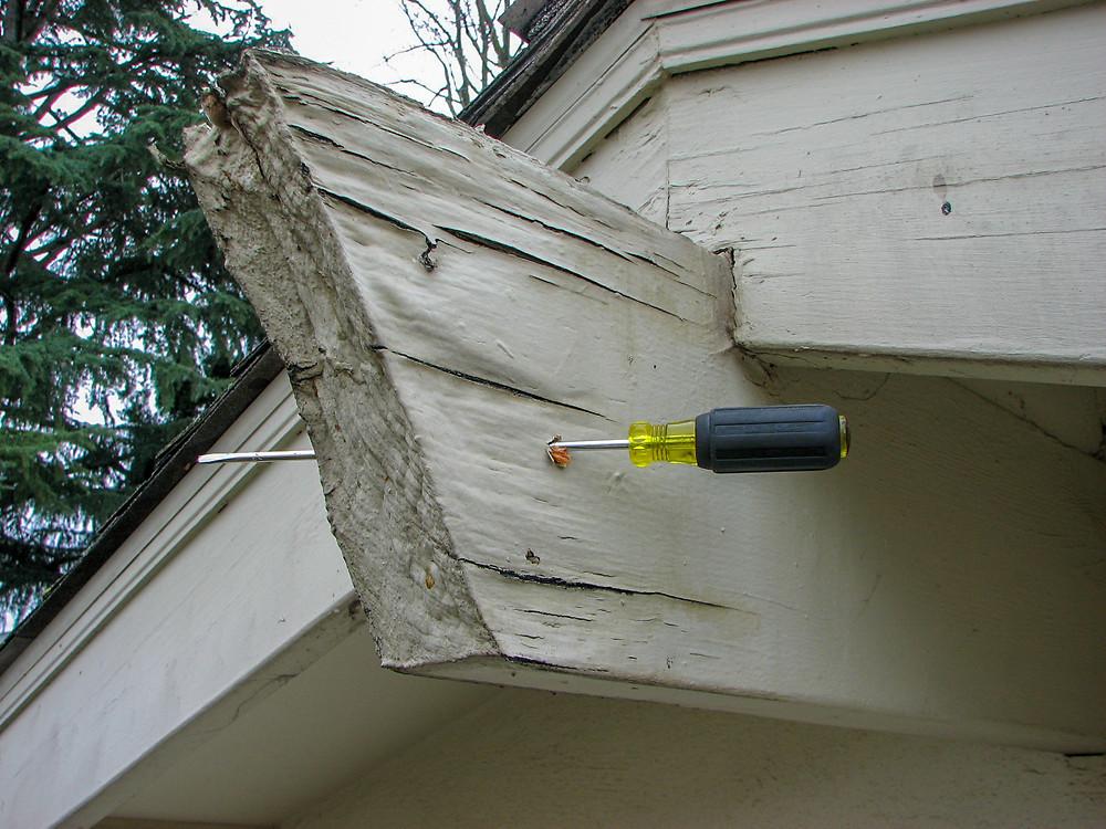 Dry rot distorted beam