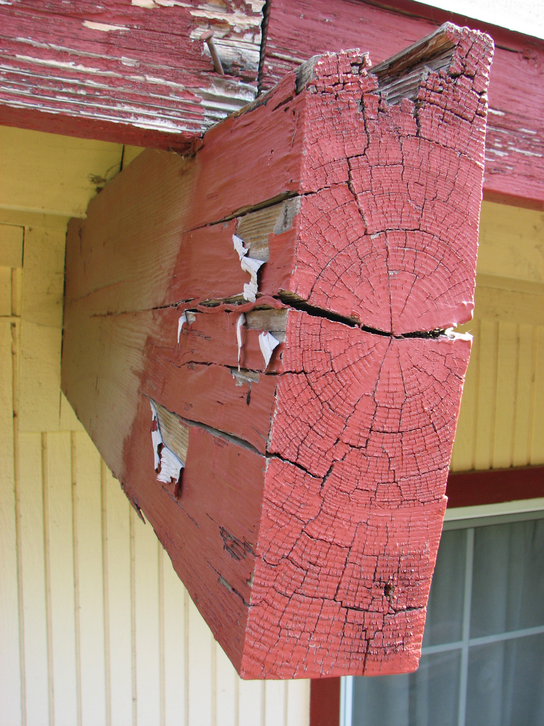 end cracking from dry rot