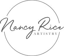 Nancy Rice Artistry - Circle Logo - Grey